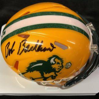 North Dakota State Bison Bob Backlund Autographed Mini Helmet