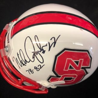 North Carolina State Wolfpack Mike Quick Autographed Mini Helmet