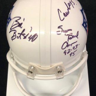 Dallas Cowboys Bill Bates Autographed NFL Shield Mini Helmet