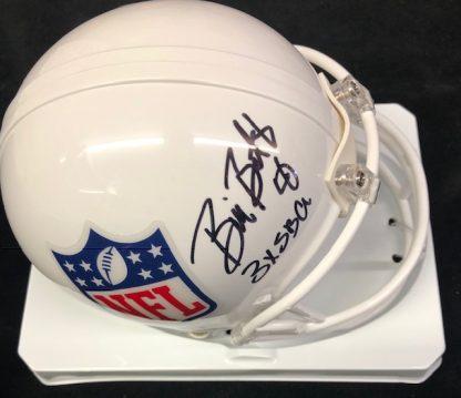 Dallas Cowboys Bill Bates Autgraphed NFL Shield Mini Helmet