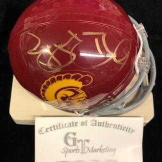 USC Trojans Reggie Bush Autographed Mini Helmet