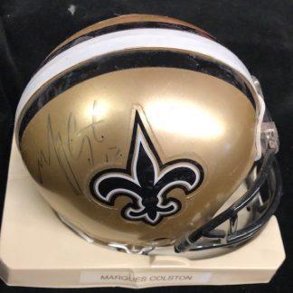 New Orleans Saints Marques Colston Autographed Mini Helmet