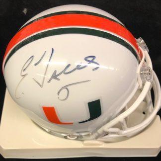 Miami Hurricanes Edgerrin James Autographed Mini Helmet