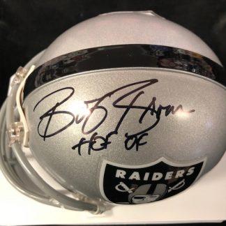 Oakland Raiders Bob Brown Autographed Mini Helmet