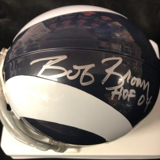Los Angles Rams Bob Brown Autographed Throwback Mini Helmet