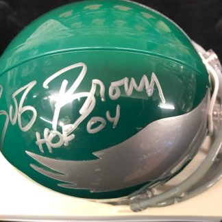 Philadelphia Eagles Bob Brown Autographed Mini Helmet