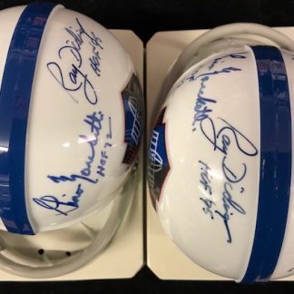 Hall of Fame Logo McDonald / Marchetti / Didinger Autographed Mini Helmet