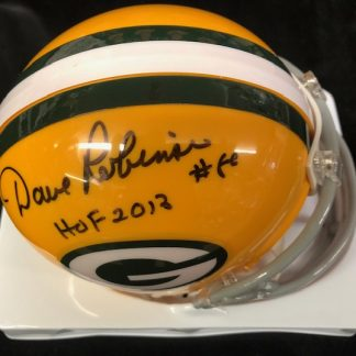 Green Bay Packers Dave Robinson Autographed Mini Helmet