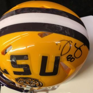 LSU Tigers Donnie Jones Autographed Mini Helmet