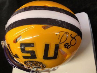 LSU Tigers Donnie Jones Autographed Mini Helmet