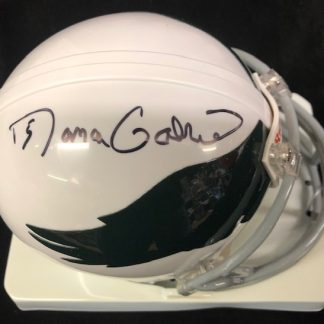 Philadelphia Eagles Roman Gabriel Autographed White Throwback  Mini Helmet