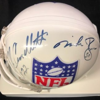 NFL Shield Cappelletti / Rozier Autographed Mini Helmet