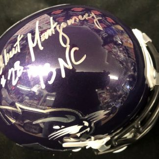 Autographed Football Mini Helmets