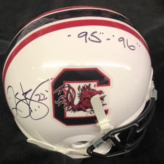South Carolina Gamecocks Duce Staley Autographed Mini Helmet