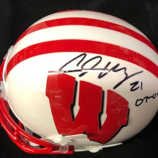 Wisconsin Badgers Chris Maragos Autographed Mini Helmet