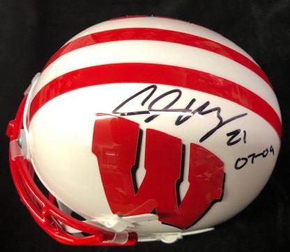 Wisconsin Badgers Chris Maragos Autographed Mini Helmet