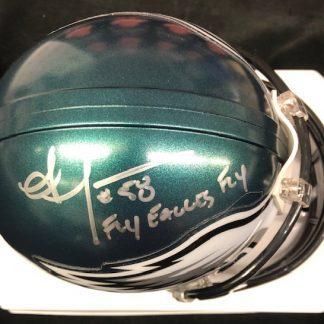 Philadelphia Eagles Jordan HIcks Autographed MIni Helmet