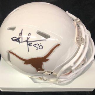 Texas Longhornes Jordan Hicks Autographed Mini Helmet