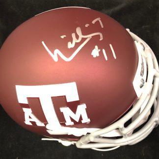 Texas A&M Aggies William Thomas Autographed Mini Helmet