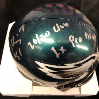 Philadelphia Eagles William Thomas Autographed Mini Helmet