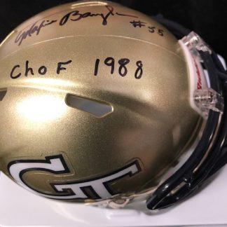 Georgia Tech Yellow Jackets Maxie Baughan Autographed Mini Helmet