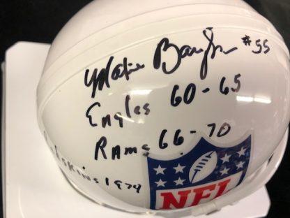 NFL Shield Maxie Baughan Autographed Mini Helmet