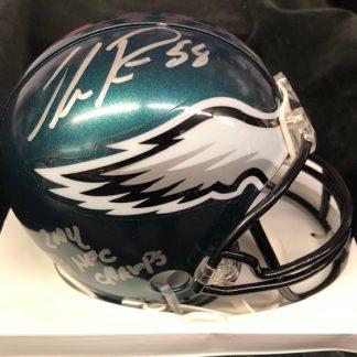 Philadelphia Eagles Ike Reese Autographed Mini Helmet