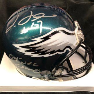 Philadelphia Eagles Jamaal Jackson Autographed Mini Helmet
