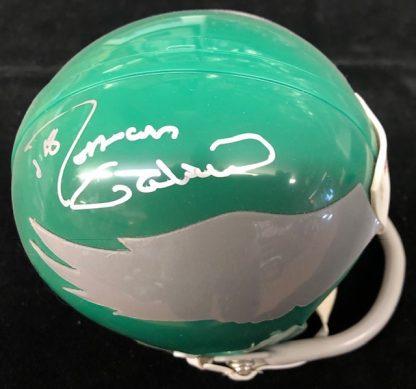 Philadelphia Eagles Roman Gabriel Autographed 1 Bar Mini Helmet
