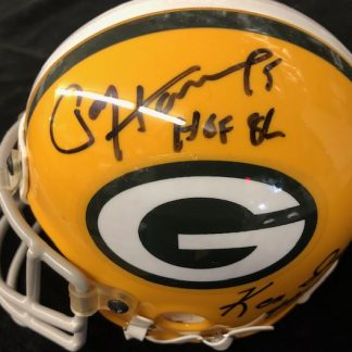Green Bay Packers Hornung / Iman Autographed Mini Helmet
