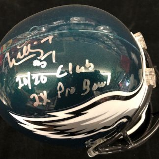 Philadelphia Eagles Willie Thomas Autographed Full Size Hellmet