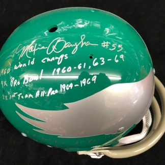 Philadelphia Eagles Maxie Baughan Autographd Full Size Authentic TK 2 Bar Helmet