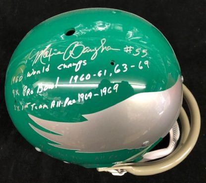 Philadelphia Eagles Maxie Baughan Autographd Full Size Authentic TK 2 Bar Helmet