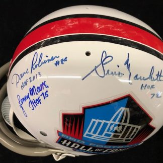 Hall of Fame Logo Marchetti / Moore / Robinson Autographed Full Size Helmet