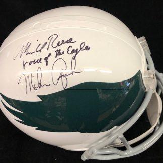 Philadelphia Eagles Quick / Reese Autographed Full Size Helmet