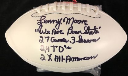 Penn State Nittany Lions Lenny Moore Autoraphed Football