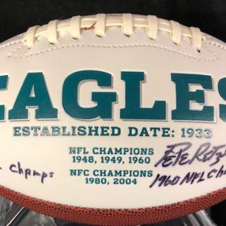 Philadelphia Eagles Baughan / Retzlaff Autographed Football