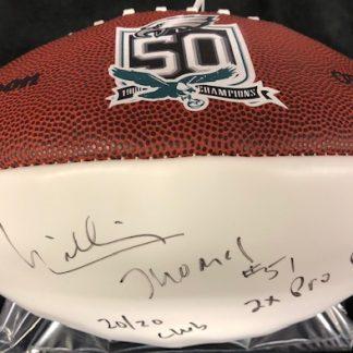 Philadelphia Eagles William Thomas Autographed  Football