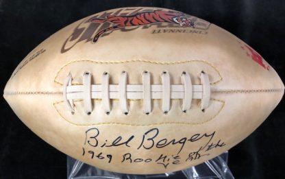 Cincinnati Bengals Bill Bergey Autographed Football