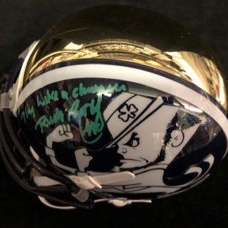 Notre Dame Fighting Irish Rudy Ruettiger Auographed Mini Helmet
