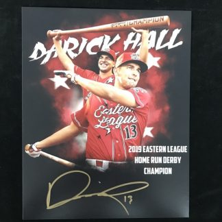 Reading Phillies Darick Hall Autographed 16 x 20
