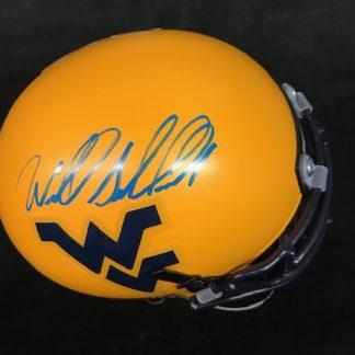 West Virgina Mountaineers Wendell Smallwood Autographed Yellow Mini Helmet