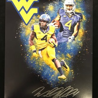 West Virgina Mountaineers Wendell Smallwood Autographed 11x14 Photo