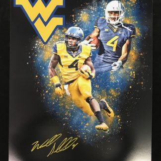 West Virgina Mountaineers Wendell Smallwood Autographed 16x20 Photo