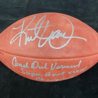 St. Louis Rams Dick Vermeil and Kurt Warner Autographed Football