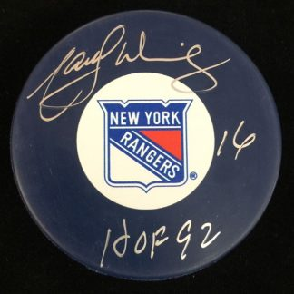 New York Rangers Marcel Dionne Autographed Puck