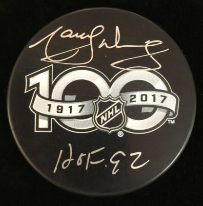 NHL 100 Greatest Marcel Dionne Autographed Puck