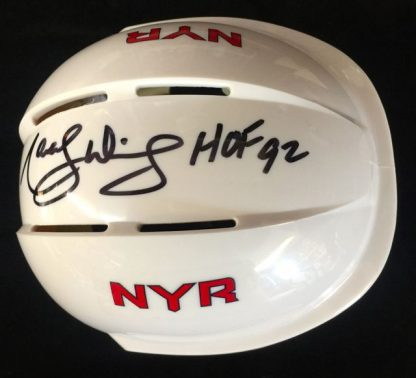 New York Rangers Marcel Dionne Autographed Mini Helmet
