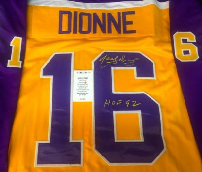 Los Angeles Kings Marcel Dionne Autographed Jersey