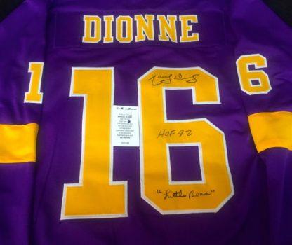 Los Angeles Kings Marcel Dionne Autographed Jersey